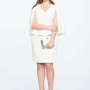 Eloquii V Neck Cape Dress